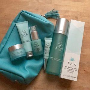 TULA 8pc Skincare Set ~ Glycolic Gel + Eye Serum